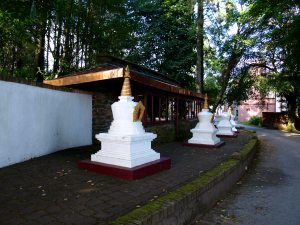Stupas and lamp house